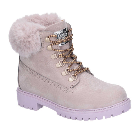 Darkwood Larch Lace Up Boot Grey/Mauve