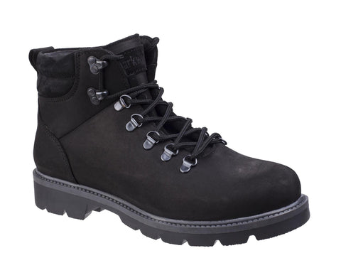Darkwood Maple 7514 Mens Rugged Style Lace Up Ankle Boot Black
