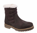 Darkwood Rosewood 7011 Womens Warm Lined Pull On Mid Calf Length Boot Brown