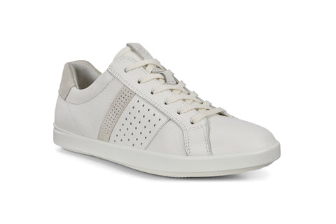 Ecco Leisure Womens Leather Lace Up Sneaker 205093-52292