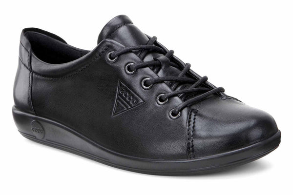 Ecco Soft 2.0 Womens Lace Up Casual Shoe 206503-56723 Black 56723