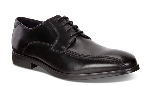 Ecco Melbourne Mens Bike Toe Leather Lace Up Formal Shoe 621604-01001