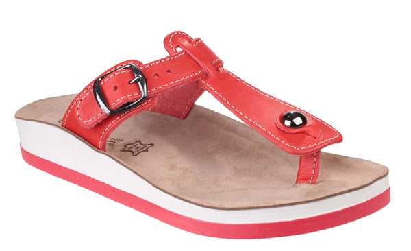 Fantasy Krios Womens Toe Post Casual Sandal Coral