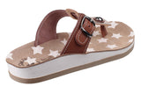 Fantasy Naxos Womens Slip On Toe Post Casual Sandal