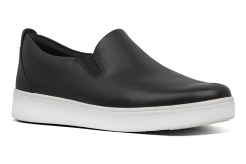 FitFlop Rally Womens Slip On Leather Trainer
