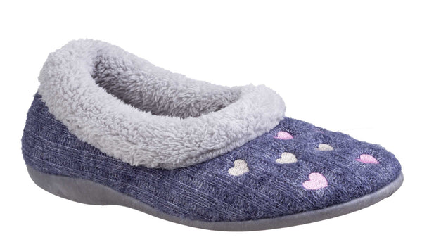 Fleet & Foster Alaska Knit Womens Full Slipper