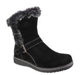 Fleet & Foster Budapest Womens Calf Length Pull On Winter Boot Black