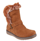 Fleet & Foster Budapest Womens Calf Length Pull On Winter Boot Tan