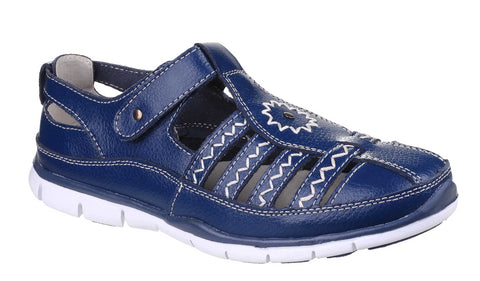 Fleet & Foster Cabernet Womens Touch Fastening Casual Shoe Navy