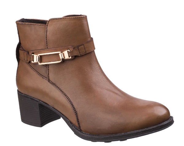 Fleet & Foster Canterbury Womens Leather Dress Ankle Boot Tan