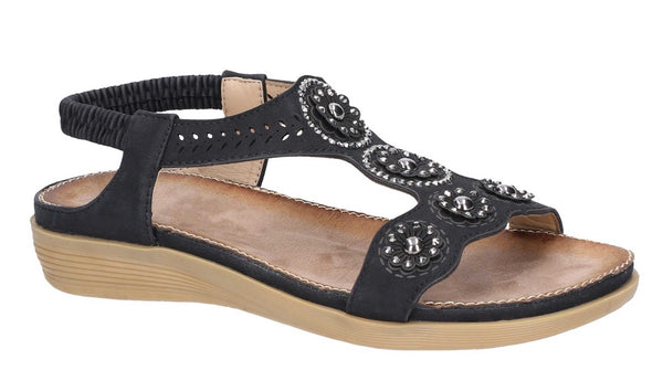 Fleet & Foster Caper Womens T Bar Slip On Summer Sandal