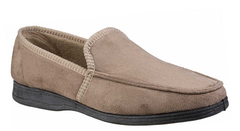 Fleet & Foster Dakis Mens Loafer Style Velour Slipper