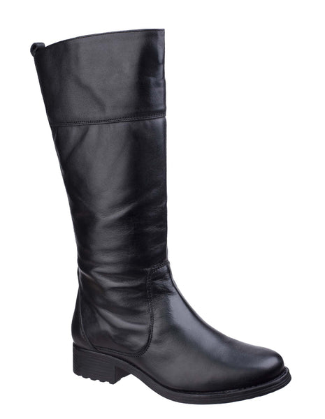Fleet & Foster Dorchester Womens Leather Long Leg Dress Boot Black