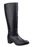 Fleet & Foster Durham Womens Leather Long Leg Dress Boot Black