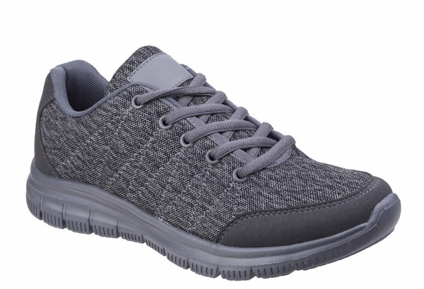 Fleet & Foster Elanor Lace Up Trainer Grey