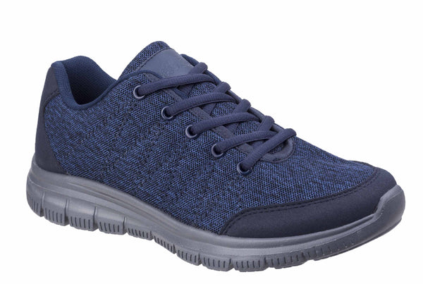 Fleet & Foster Elanor Lace Up Trainer Navy