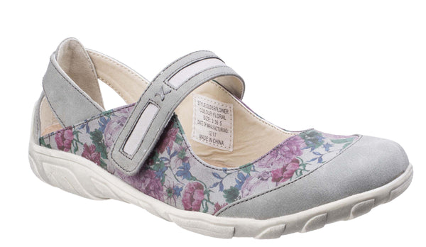 Fleet & Foster Elderflower Touch Fastening Shoe Floral