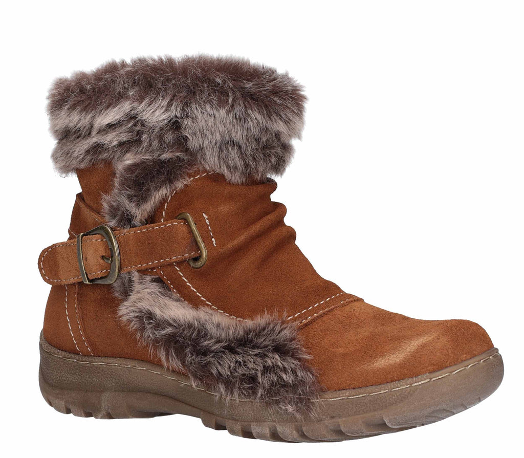 332632d122c Fleet & Foster Ginny Womens Warm Lined Ankle Boot With Faux Fur Trim –  Robin Elt Shoes