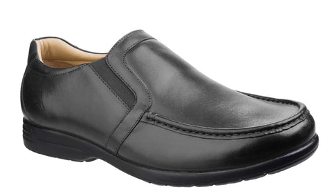 Fleet & Foster Gordon Dual Fit Moccasin Black