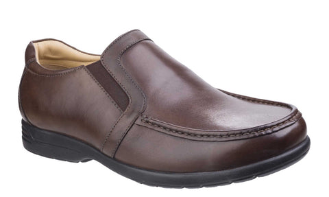 Fleet & Foster Gordon Dual Fit Moccasin Brown