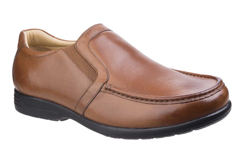 Fleet & Foster Gordon Dual Fit Moccasin Tan