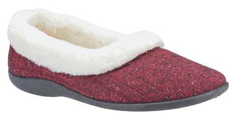 Fleet & Foster Hilda Womens Warm Lined Slippers