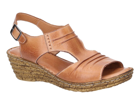 Fleet & Foster Incense Womens Wedge Heeled Leather Sandal