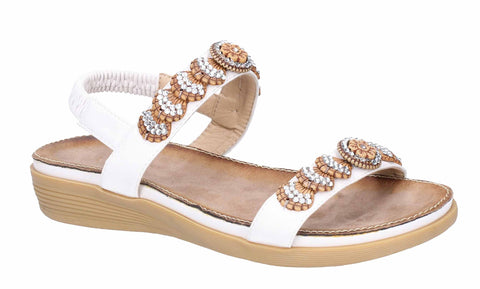 Fleet & Foster Java Elasticated Sandal White
