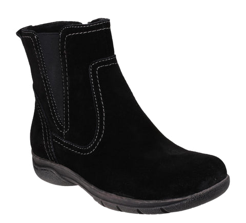 Fleet & Foster Malmo Womens Suede Ankle Boot Black