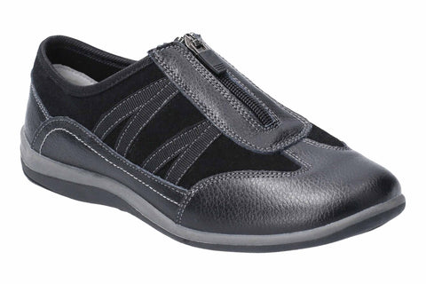 Fleet & Foster Mombassa Leather Slip on Shoe Black