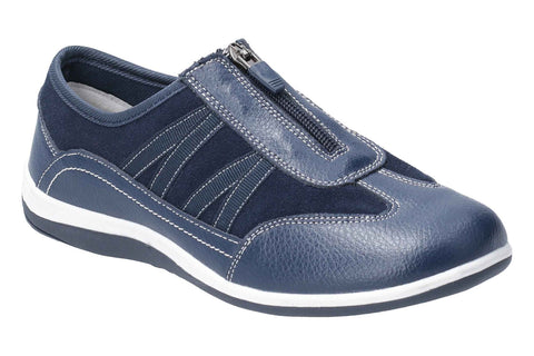 Fleet & Foster Mombassa Leather Slip on Shoe Navy