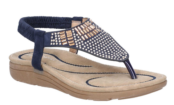 Fleet & Foster Mulberry Womens Stud Detail Slip On Toe Post Sandal