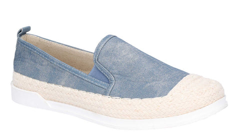 Fleet & Foster Paradise Nautical Espadrille Loafer Denim