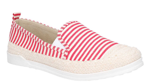 Fleet & Foster Paradise Nautical Espadrille Loafer Red
