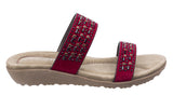Fleet & Foster Parisio Womens Jewel Detail Slip On Summer Mule Sandal