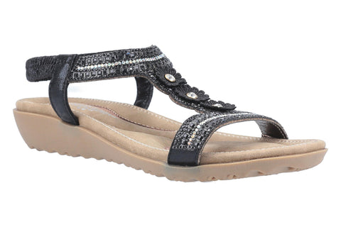 Fleet & Foster Tabitha Slip On Sandal Black