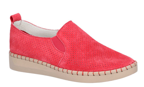 Fleet & Foster Tulip Slip On Shoe Red