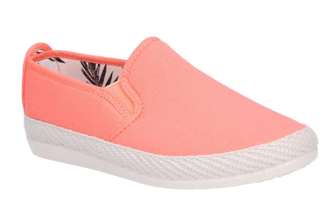 Flossy Orla Womens Slip On Canvas Espadrille Casual Shoe