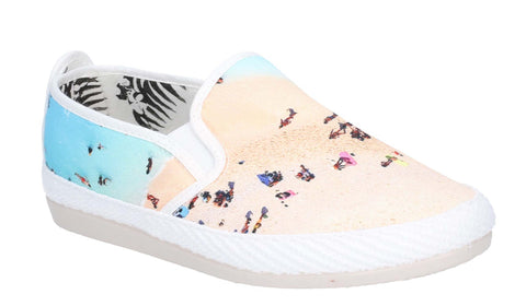 Flossy Pastel Slip On Shoe Ecru