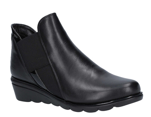 The Flexx Bootstrap Womens Leather Pull On Ankle Boot