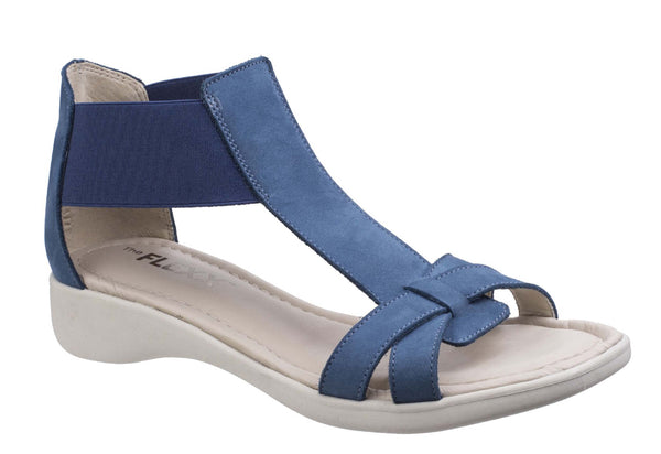The Flexx Con Band Womens Slip On Summer Sandal Denim N