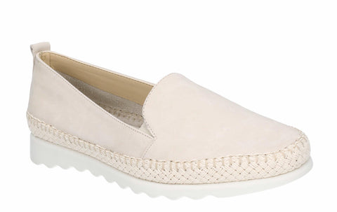 The Flexx Easy Chap Nubuck Twin Gusset Slip On Shoe Off White