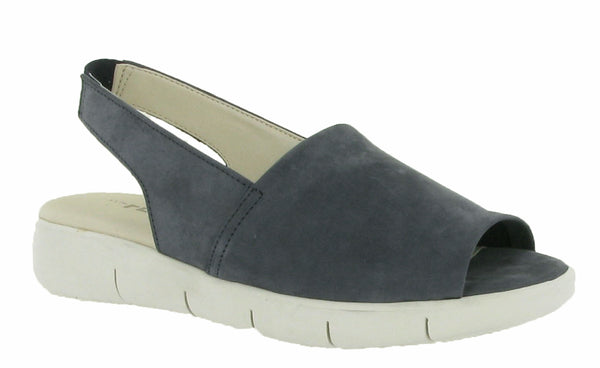 The Flexx Easy Row Womens Platform Sole Slingback Sandal Navy N