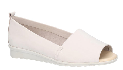 The Flexx Fantastic Womens Nubuck Leather Open Toe Slip On Shoe