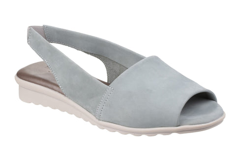 The Flexx Fantazee Womens Nubuck Slingback Sandal Pale Blue N