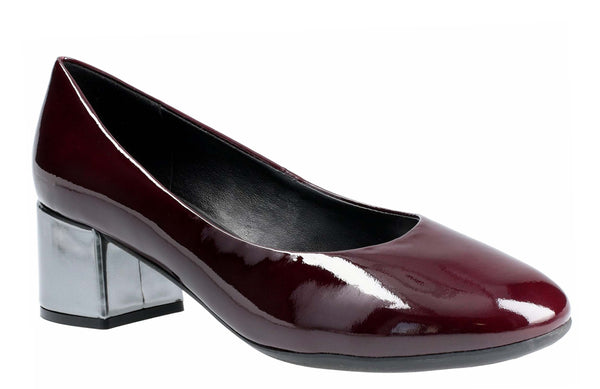 The Flexx Headmistress Slip On Court Shoe Bordo