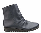 The Flexx Pan Fried Womens Ruche Detail Leather Ankle Boot