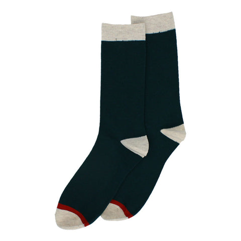 Forever England Hector Men's Two Tone Socks Green