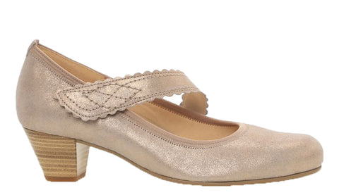 Gabor Allie Womens Extra Wide Fit Touch Fastening Mary Jane Court Shoe 26.148