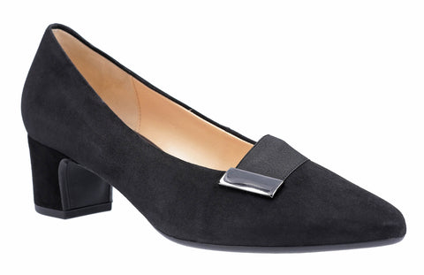 Gabor Ember Womens Block Heeled Suede Court Shoe 31.441
